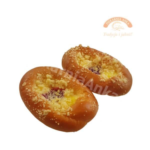 Drożdżówka ser, budyń, marmolada - Piekarnia Anka